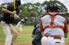 棒球沥青 库存照片
