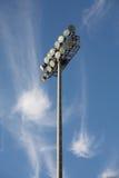 棒球泛光灯足球 库存图片