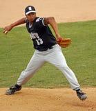 棒球泽西同盟投手高级系列世界 免版税库存照片