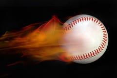 棒球火 图库摄影
