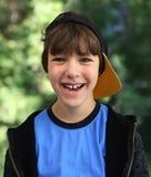 棒球男孩盖帽 免版税库存图片