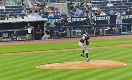 棒球科罗拉多新的罗基斯x美国人约克 免版税库存照片