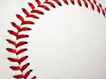 棒球缝的曲线 免版税库存照片