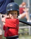 棒球联盟小球员 库存照片