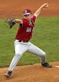 棒球联盟缅因投手高级系列世界 免版税库存照片
