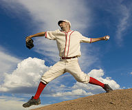 棒球葡萄酒 免版税库存图片