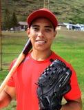 棒球西班牙球员微笑 免版税库存照片