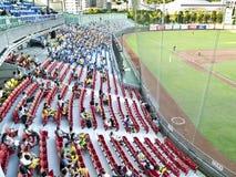 棒球观众 免版税库存照片