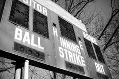 棒球记分牌 库存图片