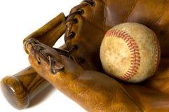 棒球设备葡萄酒 免版税库存照片