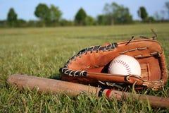 棒球设备 免版税库存照片