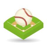 棒球设计、体育和供应例证 免版税库存照片