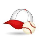 棒球设计、体育和供应例证 库存照片