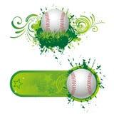 棒球设计要素 免版税库存图片