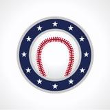 棒球象征商标 免版税库存图片