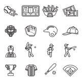 棒球象集合 库存照片