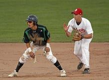 棒球跑垒员加拿大杯子游击手 免版税图库摄影