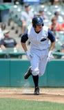 棒球跑垒员corban约瑟夫 免版税库存图片