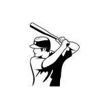 棒球运动员传染媒介 库存图片