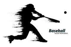 棒球运动员的剪影 也corel凹道例证向量 库存例证
