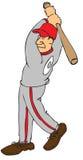 棒球运动员 向量例证