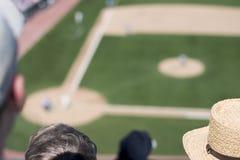 棒球迷比赛s视图 免版税库存照片