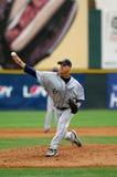 棒球间距投手版本 库存图片