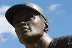 棒球雕象 免版税库存照片