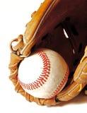 棒球露指手套 免版税库存照片