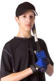 棒球青少年男孩的球员 库存照片