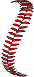 棒球鞋带或垒球鞋带图象 免版税库存图片