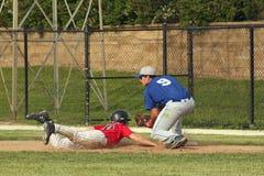 棒球高中 免版税库存照片