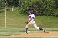 棒球高中 库存图片