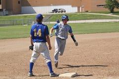 棒球高中 库存照片