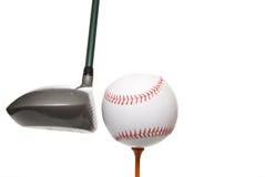 棒球高尔夫球 免版税图库摄影