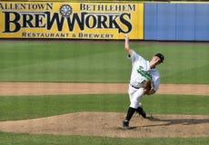 棒球高投手学校 免版税图库摄影
