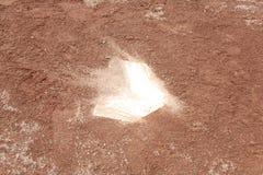 棒球黏土领域 库存照片