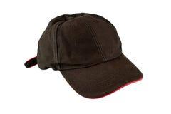 棒球黑色盖帽 免版税库存图片