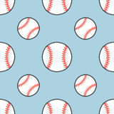 棒球,垒球体育比赛传染媒介无缝的样式,与线球象的背景  线性标志为 皇族释放例证