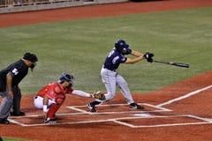 棒球击球手 免版税库存照片