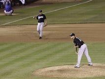 棒球-获得符号的MLB投手 免版税图库摄影