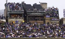 棒球-里格利域的屋顶顶层位子 图库摄影