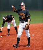 棒球hagel热身乔丹马里兰的球员 库存照片