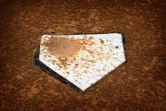 棒球HomePlate本垒比分比赛竞争 免版税图库摄影
