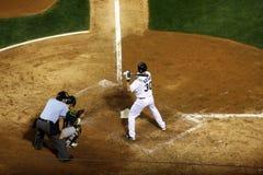 棒球kotsay首先棒球垒手的棒 免版税库存照片
