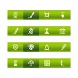棒绿色图标软件 免版税库存图片