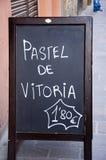 棒菜单西班牙语 免版税库存图片