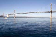 棒蓝色桥梁深水 免版税图库摄影