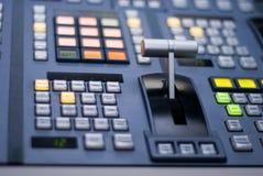 棒音量控制器调转工电视 免版税库存图片