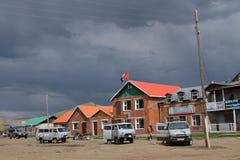 棒Ulzii村庄在蒙古 库存图片